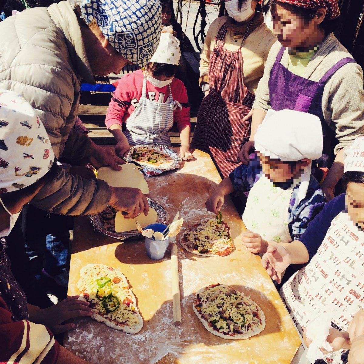37『冬のお庭で石窯を囲む~親子で楽しむピザ教室』川越ベーカリー楽楽